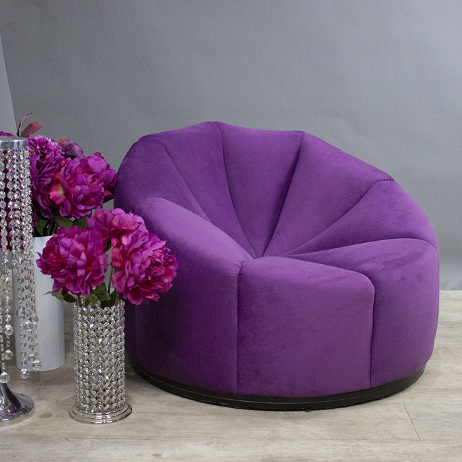 Кресло Velvet Purple Pouf картинка