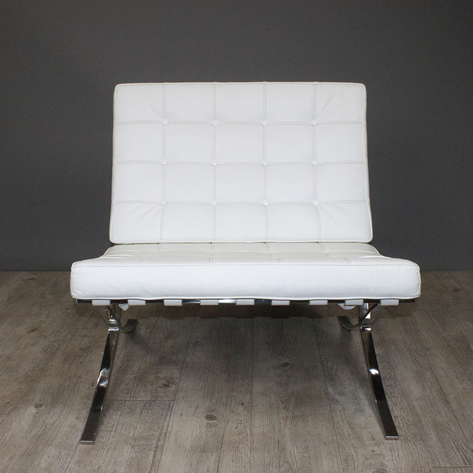 Кресло Barcelona Chair White фото