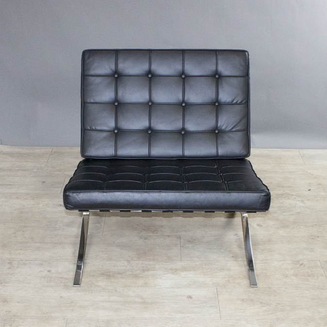 Кресло Barcelona Chair Black фото