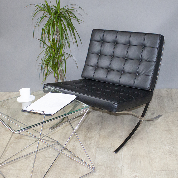 Кресло Barcelona Chair Black картинка