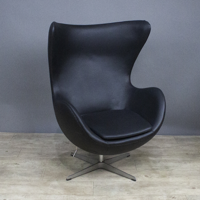 Кресло Egg Chair Black фотография