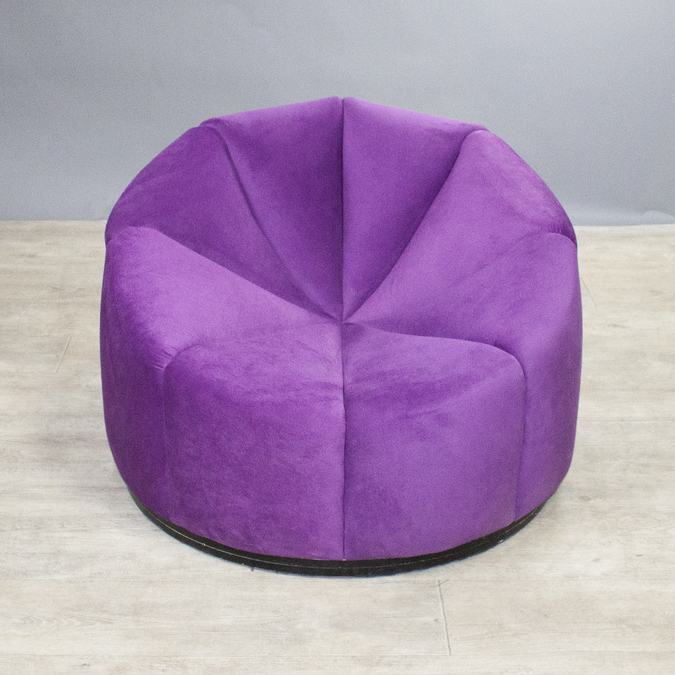 Кресло Velvet Purple Pouf фотография